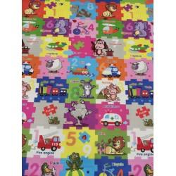 Детски двулицев килим за игра 150х180х1см