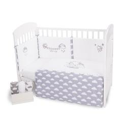 Бебешки спален комплект 2 части EU style 60/120 бродерия Little Angel Clouds