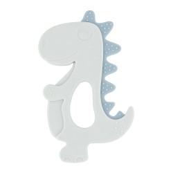 Чесалка силиконова Dinosaur Blue