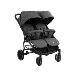 Бебешка количка за близнаци Happy 2 2020 Dark Grey
