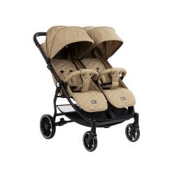 Бебешка количка за близнаци Happy 2 2020 Beige
