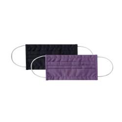 Сет 2бр дамска маска правоъгълна 18см Purple & Black