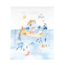 Олекотено одеяло ранфорс 90/110см The Fish Panda